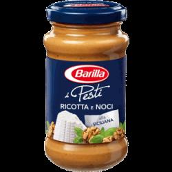 Barilla Pesto mit Ricotta, Walnüssen, Cashew-Kernen und Olivenöl - 190g.