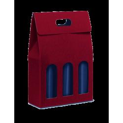 Paper box for 3 bottles (violet)