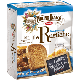 Mulino Bianco - suchary s vlákninou Le Rustiche - 315g.